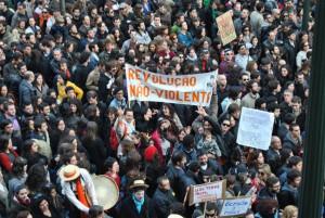 Foto da manifestação de 12 de março