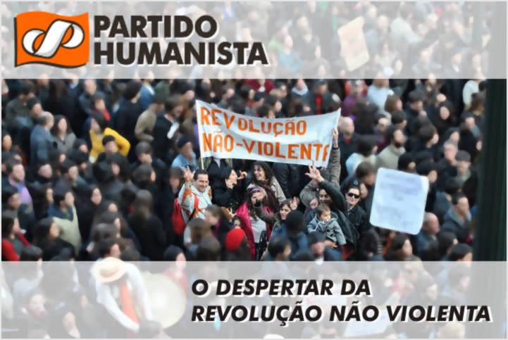Foto de humanistas na manifestação de 12 de março
