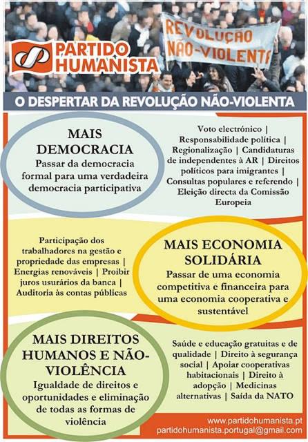 Folheto para legislativas 2011