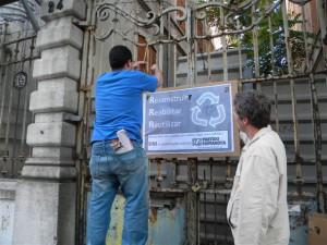 Colocação de cartaz